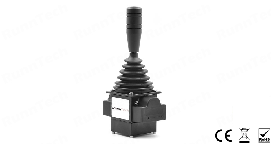 RunnTech Single-axis Friction Hold Contactless Hall Sensor 0.5 to 4.5V Proportional Joystick