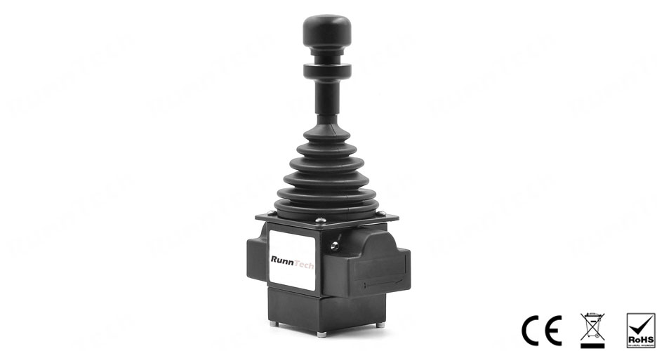 RunnTech Single Axis with Zero Position Mechanical Interlock Proportional Output Joystick