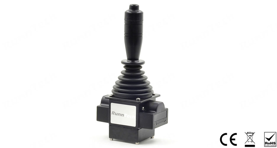 RunnTech Single-axis ( left/right or up/down) Joystick with 4-20mA Proportional Output